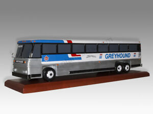 Greyhound Lines Bus Solid Kiln Dried Mahogany Wood Handcrafted Display Model