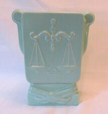 Metlox Poppy Trail LIBRA Zodiac Vase Circa 1939 California Art Pottery REDUCED!