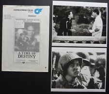 A TIME OF DESTINY 1988 PRESS STILLS + NOTES WILLIAM HURT TIMOTHY HUTTON