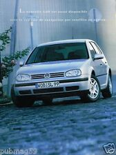 Publicité advertising 1998 VW Volkswagen Golf