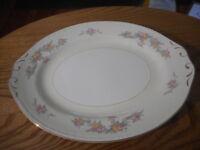 "Homer Laughlin Georgian Eggshell Countess Rose 12"" Oval Serving Platter"