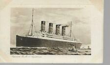 Cunard RMS Aquitania - Old Unposted Postcard - Grout Ashford Kent