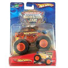 Hot Wheels Monster Jam Monster Truck Blue Flames X Raycers Die Cast 1/64 #27