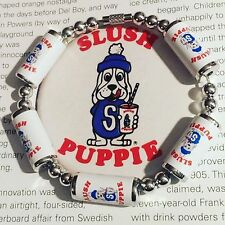 Unique SLUSH PUPPIE BRACELET handcrafted MIXED UP DOLLY cute SLUSHIE retro ICE