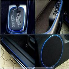 1Pcs 5M AUTO ACCESSORIES Universal Interior Decorative Blue Strip CHROME Shiny A