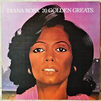 Diana Ross 20 Golden Greats EX LP Vinyl Rare Portugal Portuguese Issue Hits