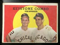 KEYSTONE COMBO FOX-APARICIO Chicago WHITE SOX Topps #408 BASEBALL Card