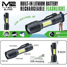 LED Taschenlampe Mini Polizei Swat Wiederaufladbarer Akku starke Leuchtkraft Top