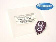 "JDM Nissan Silvia 240SX S13 Purple ""Q's"" Rear Emblem Badge Genuine OEM"