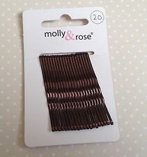 PACK 20 METAL MINI 4.5cm KIRBY HAIR GRIPS CLIPS BOBBY PINS FOR BUN UP DO GIRLS
