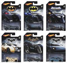 6 Car Set Hot Wheels Batman DC Comics Fkf36 All 2017