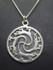 Anhänger Kette 925 SILBER Sterling Silver argent pendant Drachen Fantasy dragon