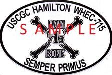 Uscgc Hamilton Whec-715 Auto Decal