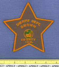 BROWN COUNTY SHERIFF (Old) INDIANA Police Patch STAR SHAPE