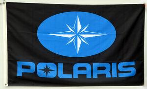 Polaris Flag Banner 3x5ft ATV Off Road Jet Ski Black US seller