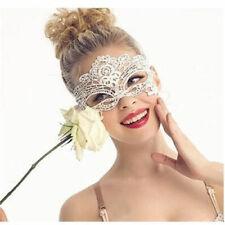 WHITE Lace Eye Mask Sexy Masquerade Ball Halloween Fancy Dress Costume