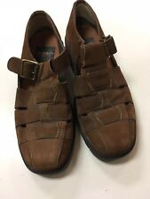 MEN'S AEROSOLES Suede Leather Upper SANDALS SHOES Made in Brazil  -  Size 9.5 C
