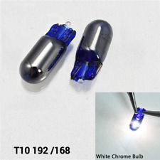 T10 168 194 175 2827 12961 Chrome WHITE Bulb License Plate Light B1 For BMW U