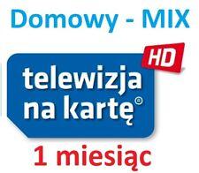 TnK, NC+, DOMOWY lub MIX 1M,Telewizja na karte, Aufladung, Doladowanie, Polsat,