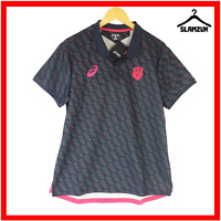 Stade Francais Rugby Polo Shirt Asics L Large Paris Rugby Union Training Jersey