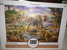 1000 Piece Jigsaw Puzzle. CHengQiSM, Age 14+ Size: 700x500mm  Jungle Animals