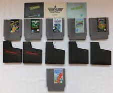 6 ORIGINAL NINTENDO NES GAMES + 3 MANUALS & 5 SLIP CASES TENNIS JOE & MAC