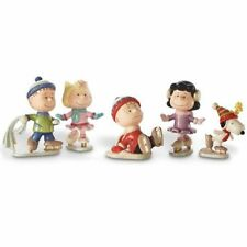 Lenox Peanuts ICE SKATING PARTY Snoopy Charlie Figurine (Set of 5) - New In Box