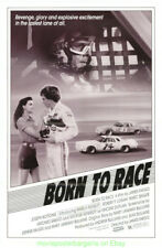 BORN TO RACE MOVIE POSTER 27x41 Folded 1988 JOSEPH BOTTOMS CAR RACING Film