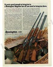 1976 REMINGTON Magnum Shotgun Autoloader, Pump, Over Under VTG PRINT AD