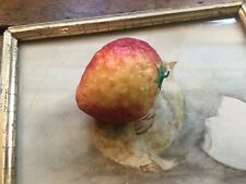 Vintage Italian Alabaster Marble Stone Strawberry Realistic Large Size