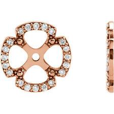 Diamond Earring Jacket In 14K Rose Gold (1/5 ct. tw.)