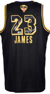 """Los Angeles Lakers #23 """"The King"""" & MJ  & Mamba """"3 GOAT"""" Autographed Jersey COA"""