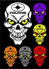 Polaris skull decal sticker RZR RMK Switchback Sportsman Ace Rush Snowmobile ATV