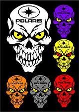 Polaris skull decal sticker RZR RMK Switchback Sportsman Ace Rush Snowmobile ATV