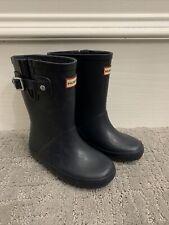 Hunter Original Classic Little Kids Rain Boots, Matte Navy Blue, US Size 10B/11G