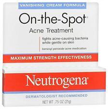 Neutrogena On-The-Spot Acne Treatment Vanishing Cream Formula 0.75 oz (4 pack)