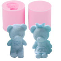 1pcs 3D Bear Silicone Soap Mold Fondant Candle Mould Cake Baking Decorating Tool