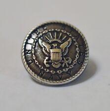 "New United States Navy Small Rivetback Concho 5/8"" Enmon Silver"