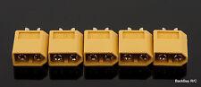 (5) Male XT60 / XT-60 Battery Bullet Connectors Plug - Turnigy / Zippy