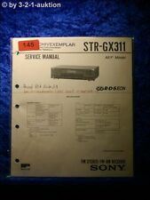 Sony Service Manual STR GX311 Receiver (#0145)