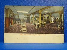 1915 HOTEL MONTICELO LOBBY, Atlantic City, NJ/Postcard