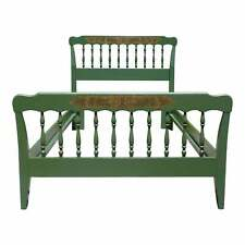 Vintage Green Hitchcock Colonial Autumn Harvest Stenciled Twin Bed Frame