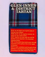 Glen Innes & District Tartan Australia Souvenir Magnet Vintage (R11)