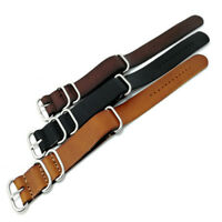 Watchband 18mm 20mm 22mm Watch Band Strap Genuine Leather Stainless Steel Buckle