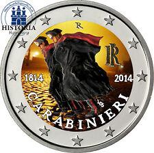 Italien 2 Euro Gedenkmünze 2014 bfr. 200 Jahre Carabinieri in Farbe