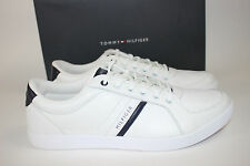 NIB TOMMY HILFIGER Size 11.5 Men's White 100% Leather THORNE Tennis Shoe
