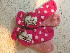 Modern Heritage 4 Pair Women's Warm Fuzzy Chenille Slipper Socks Bubbl MSRP $ 24