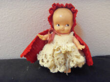vintage 50's Irwin doll dressed as Little Red Riding Hood- brittle plastic