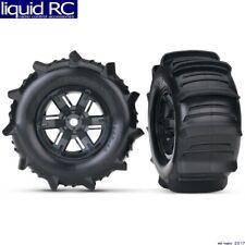 Traxxas 7773 X-Maxx 8S sand paddle Tires & wheels assembled & glued - black