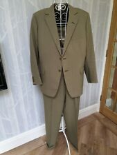 Vintage 2 Piece Light Weight Green suit, Hand Made 38 chest